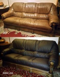 обивка/перетяжка кожанного дивана